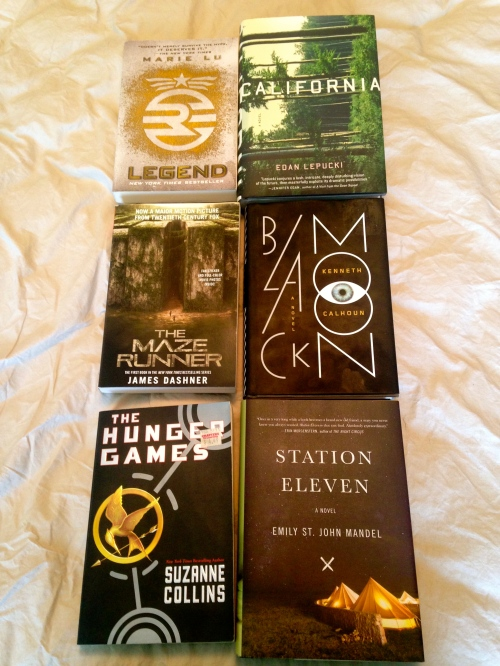 Legend, The Maze Runner, The Hunger Games, California, Black Moon, Station Eleven, novel, book, novels, books, dystopian